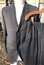 Vtg Drop Loop Pants 40R Men Suit 31Wx28.5L Rockabilly Penneys Black Check 1950s
