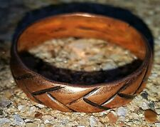 Hand Crafted Copper Ring~Continuous Braid~NICE RING~Healing Effects of Copper