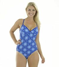 Zoggs Tropical Garden Crossover Swimming Costume Size 14 16 RRP £38 Bust Support
