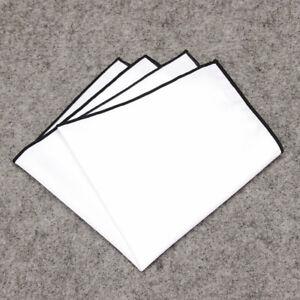 23cmx23cm Men Pocket Square Cotton Handkerchief 17 Colors Wedding Party