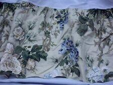 WAVERLY GARDEN ROOM Green Gold Blue Floral Print Twin Bedskirt