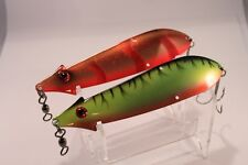 """6"""", 60g Red Stripe & Fire Tiger Pikerman Spoons, Pike, Perch,Trout Fishing Lures"""