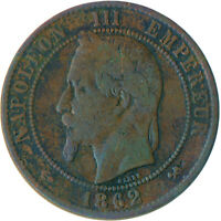 COIN / FRANCE / 10 CENTIMES 1862 NAPOLEON III. #WT5475