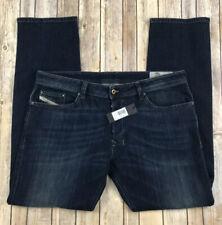 DIESEL Safado R Mens 38 x 32 R48W1 Wash Regular Slim Straight Stretch Jeans NEW