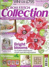 Cross Stitch Collection magazine Bright blooms Puppy love Nostalgia Christmas