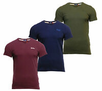 Superdry Mens New Orange Label V Neck Short Sleeve T Shirt Blue Burgundy Khaki