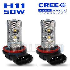 2 X 50W CREE H11 Nebbia Lampadine Bianco Luminoso 711 64211