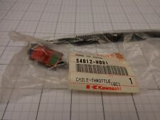 Kawasaki OEM NOS 54012-W001 Throttle Cable with Switch Wire Assy SOME KRB750