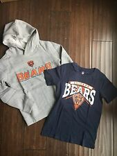 Chicago Bears NEW Youth Large Replen Tee & Hoodie SET . NFL TShirt NWT Gift Kid