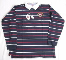 21st World Rugby Classic Bermuda Long Sleeved Polo Mens Size XL Navy Red NWT