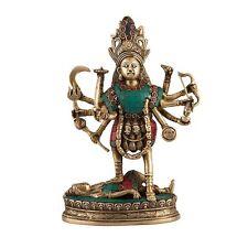 1 Feet Hindu Goddess Kaali Kali Bhairavi Puja Statue Figure Brass Maa Durga god