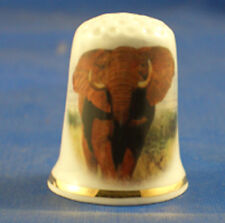 Birchcroft Thimble -- Wildlife -- African Elephant with Free Dome Gift Box