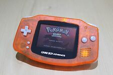 New Refurbished Game Boy Advance Console CLEAR ORANGE New Body & Screen