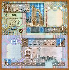 Libya, 1/4 Dinar, ND (2002), P-62, UNC > Colrful