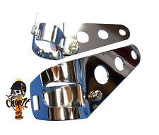 Chrom Motorrad Scheinwerferhalter für Scheinwerfer mit seitlicher Befestigung