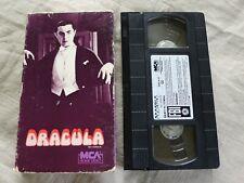 Dracula VHS MCA Horror BELA LUGOSI Bram Stoker DWIGHT FRYE black white 1931 1985