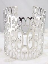 Silver Openwork Cuff Bracelet Wide Fashion Jewelry NEW Pretty!