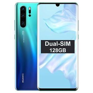 New Huawei P30 PRO Dual/Hybrid-SIM VOG-L29 128GB Aurora FactoryUnlocked SIMFree