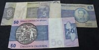 Mix Of Brazil Bank Notes | Bank Notes | KM Coins