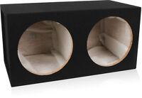 "Belva Dual 2 12 inch Car Speaker Subwoofers Box Enclosure Sealed 3/4"" MDF Carpet"