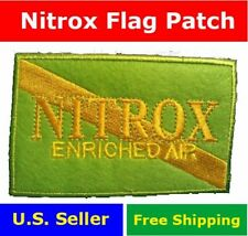 Diver Down Flag Nitrox Scuba Patch 4x2.5 Enriched Air Neon gift Rebreather Green