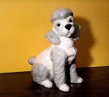 "Large 8"" POODLE Dog Porcelain Ceramic Figurine Statute By DNC Collections NIB"