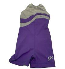 GK Elite Gymnastics Girls Leotard Youth Dance Purple Size CM VINTAGE!