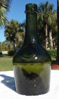 TUMBLED 1800'S BENEDICTINE LIQUEUR BOTTLE!  HEAVY - WEIGHS 2 POUNDS!!  WHITTLED!
