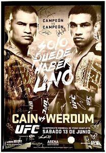 UFC 188 Auto Official Mexico Event Poster 26x40 Cain Velasquez vs Werdum Cejudo