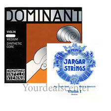 Dominant Violin String Set 4/4  Silver D /Jargar Loop  E Medium