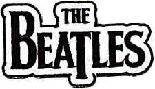 Beatles DropT logo shaped sew-on cloth patch (sq black on white)