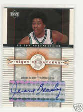 2003-04 UD TOP PROSPECTS SIGNS OF JEROME BEASLEY AUTO