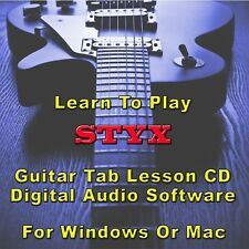 STYX Guitar Tab Lesson CD Software - 16 Songs
