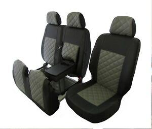 PEUGEOT BOXER,CITROEN JUMPER,FIAT DUCATO 06-18 LHD GREY LEATHER Seat Covers 2+1