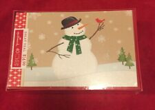 Brand New in the box and sealed. 40 Hallmark Christmas cards Snowman