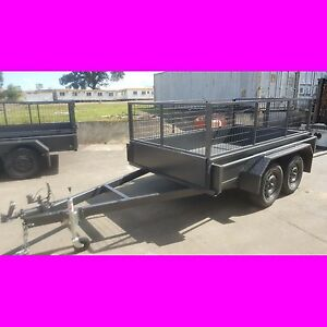9x5 galvanised tandem box trailer removable cage quality local made trailer 8x5