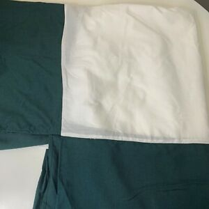 "vince camuto bedskirt color green cotton poly blend machine washable 17"" drop"
