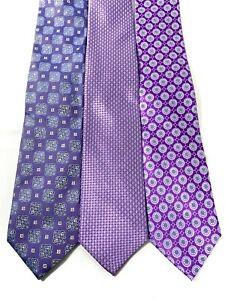 Eton x Bloomingdales Men's Blue Dress Tie Bundle   Men's Fashion   MSRP $349
