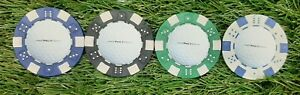 Pro V1 golf ball Markers. Various colours. Poker chip diced Style. Free UK P+P