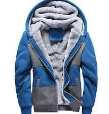 01 Mens Warm Hooded Thicken Fur Lining Coats Jackets Parka Baggy Boys Outdoor