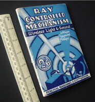 """1930s Vintage """"Ray Controlled Mechanism"""" 1st Radio Control Hobby Technical Book"""