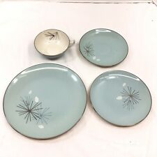 Franciscan China Silver Pine MCM Atomic Starburst 4 Piece place setting plate