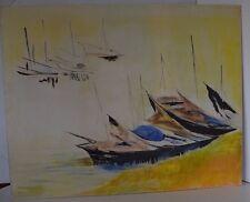 Painting Frank Dillard Boats Not Signed Ship Sailboat