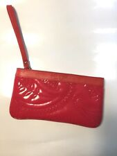 Kate Spade Red Patent Leather Quilted Wristlet or Clutch Handbag NWOT