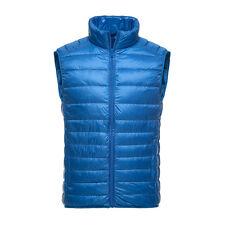 Mens Duck Down Puffer Ultralight Vest Sleeveless Waistcoat Gilet Zip Up 2017