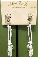 Kirks Folly Halloween Earrings - ARM OF SKELETOR - RETIRED - NEW
