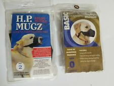 New listing Dog Muzzles X2 Size 0 And Size 2