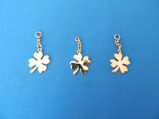 4 Leaf Clover-Gold Finish-25 Pcs.-On 3/4 Inch Chain