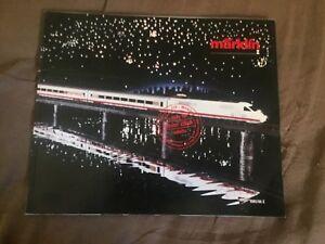 1985 1986 Marklin Z Scale Model Train Color Brochure Catalog Prospekt
