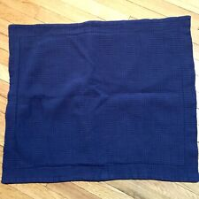 LL Bean Standard Pillow Sham Navy Blue Quilted 100% Cotton Made In Portugal EUC